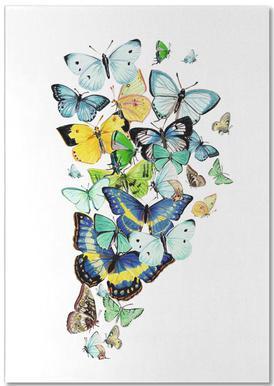 Schmetterlinge Blaugrün notitieblok