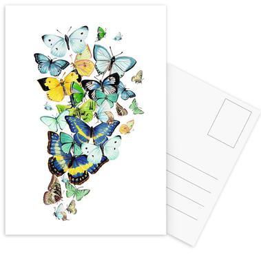 Schmetterlinge Blaugrün ansichtkaartenset