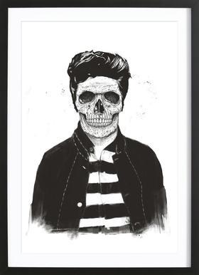 Death Fashion Poster in houten lijst