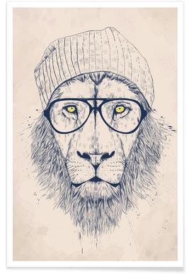 Cool lion -Poster