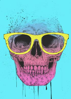 Pop Art Skull Impression sur toile