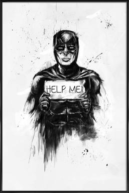 Help me! Affiche sous cadre standard