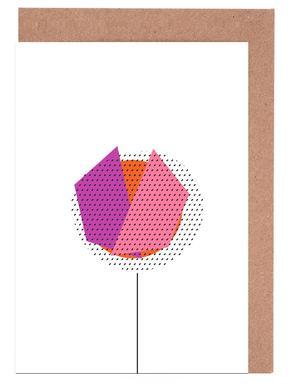 Pink Flower Greeting Card Set