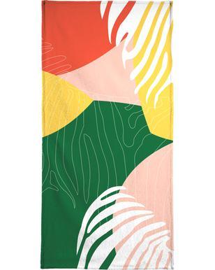 Jungle Orange Beach Towel