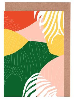 Jungle Orange Greeting Card Set