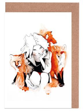 Foxy Greeting Card Set