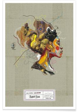 Erykah Portrait poster