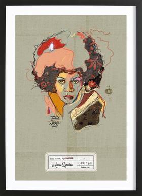Minnie Portrait ingelijste print