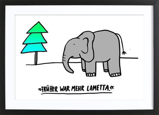 Lametta Affiche sous cadre en bois