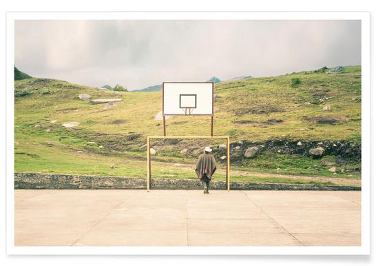 Streetball Courts 2 El Cocuy Colombia -Poster