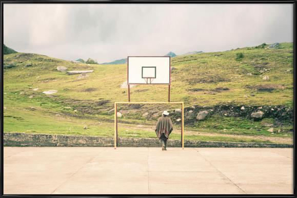 Streetball Courts 2 El Cocuy Colombia Poster im Kunststoffrahmen