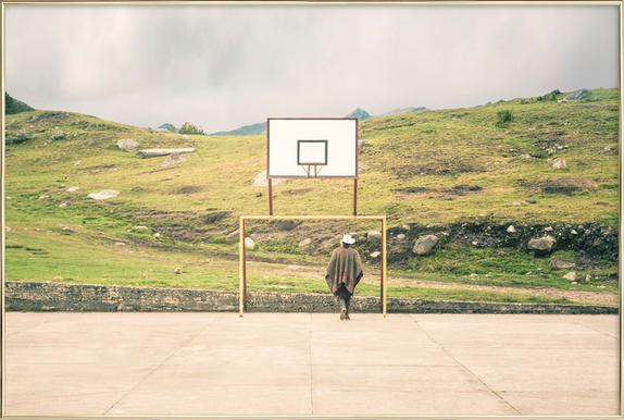 Streetball Courts 2 El Cocuy Colombia Poster in Aluminium Frame