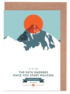 Mount Everest Orange Greeting Card Set