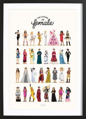 The Future Is Female affiche encadrée