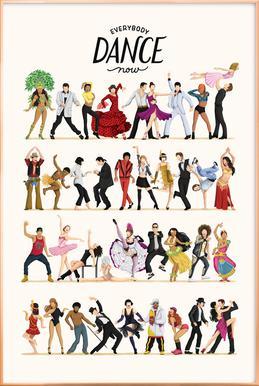 Everybody Dance Now Poster im Alurahmen