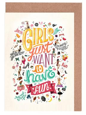Girls Just Want to Have Fun - Draw Me A Song Project Grußkartenset