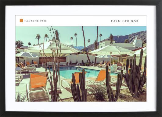 Palm Springs 7413 affiche sous cadre en bois