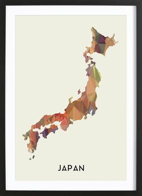 Japan Poster in Wooden Frame