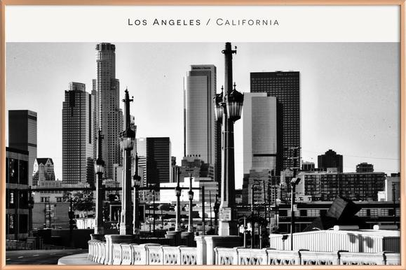 Los Angeles B&W as Poster in Standard Frame by In Full Color | JUNIQE