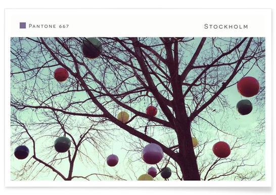 Stockholm Pantone 667 Poster