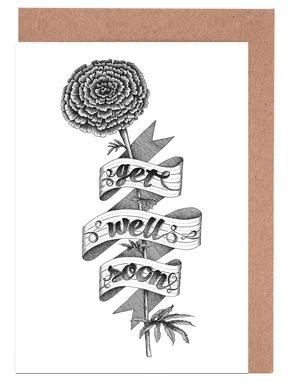 Get well soon hand-lettering Set de cartes de vœux