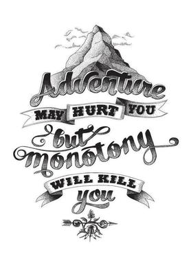Adventure Hand Lettering As Notepad By The True Type