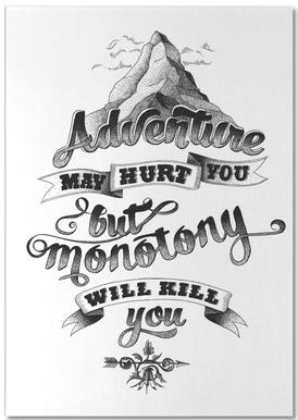 Adventure hand-lettering Bloc-notes