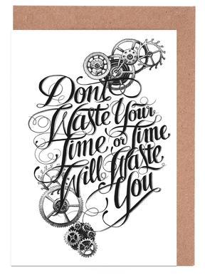 Don't waste hand-lettering Set de cartes de vœux