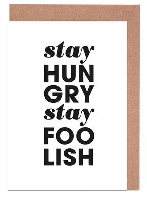 Stay Hungry Stay Foolish Steve Jobs Grußkartenset