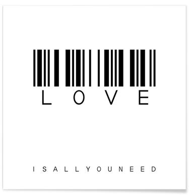 Barcode LOVE Poster