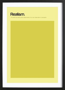 Realism ingelijste print