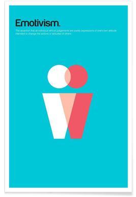 Emotivismus-Minimalistische Definition Poster