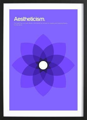 Aestheticism -Bild mit Holzrahmen