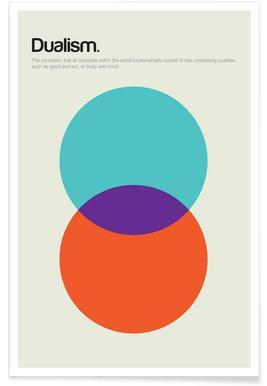 Dualismus-Minimalistische Definition Poster