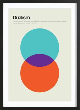 Dualism Poster im Holzrahmen