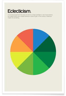 Eclecticisme - minimalistische definitie poster