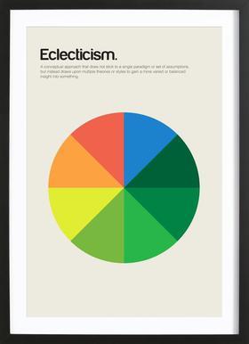 Eclecticism Poster im Holzrahmen