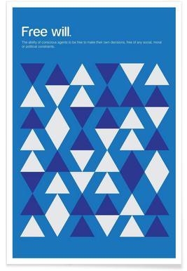 Freier Wille-Minimalistische Definition -Poster