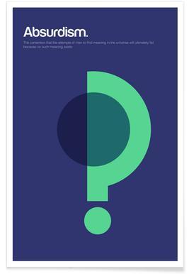 Absurdität-Minimalistische Definition -Poster