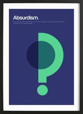 Absurdism Poster in Wooden Frame