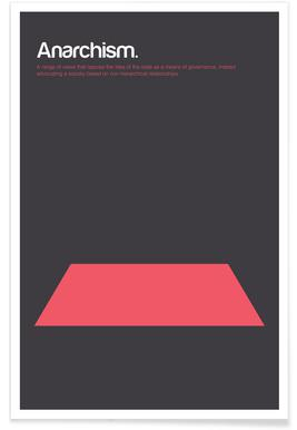 Anarchismus-Minimalistische Definition -Poster