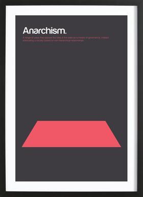 Anarchism -Bild mit Holzrahmen