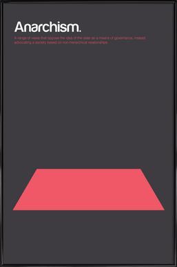 Anarchism Poster in Standard Frame