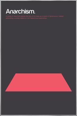 Anarchism -Poster im Alurahmen