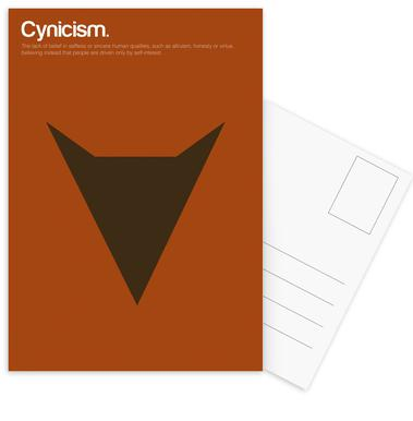 Cynicism -Postkartenset