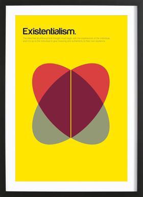 Existentialism -Bild mit Holzrahmen