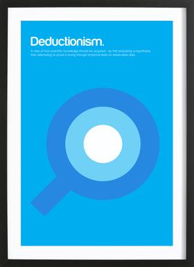 Deductionism Poster in Wooden Frame