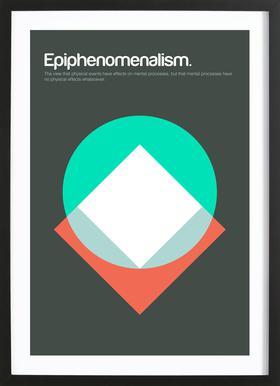 Epiphenomenalism Poster in Wooden Frame