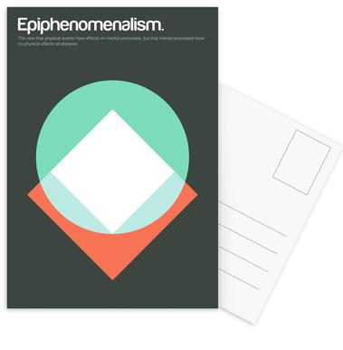 Epiphenomenalism -Postkartenset