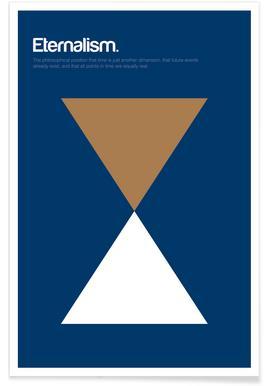 Ewigkeit-Minimalistische Definition -Poster